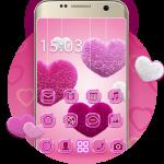 Download Fluffy diamond Hearts Theme: Pink Comics Launcher v3.9.12 APK