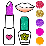 Beauty Drawing Pages Make Up Coloring Book Glitter v9.0 APK New Version