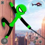 Download Flying Stickman Rope Hero 2021 v2.7 APK New Version