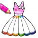 Glitter Dresses Coloring Book – Drawing pages v7.0 APK For Android